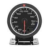 Qiilu 12V Indicatore Temperatura Olio Universale LED Rosso Display per Auto