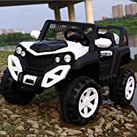 SRECAP Electric Ride on Jeep for Kids with 12V Battery, Swing Option, Music System, Spring Suspension and Remote Control…
