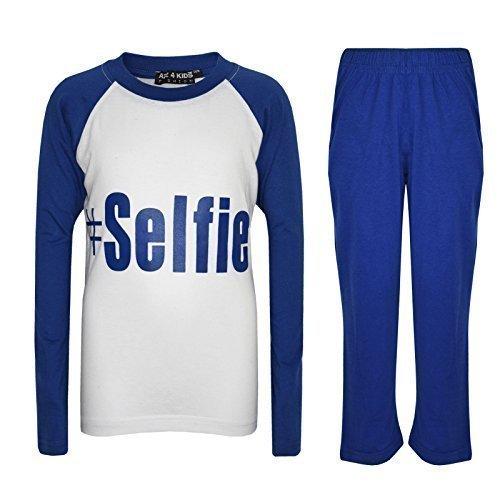 A2Z 4 Kids® Kinder Mädchen Jungen #Selfie Aufdruck - PJS #Selfie Royal 7-8
