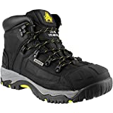 Amblers Safety - Botas de cuero para hombre, color negro, talla 40.5