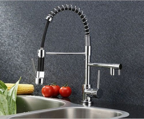 UHM Design esclusivo bar/ Kitchen Sink pull-out Spray Spray Rubinetto Rubinetto miscelatore (Stainless Steel Bar Sink)