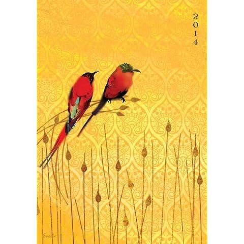 Lang oportuno - Lang 2014 Bee Eaters Sinfonias planificador de compromiso, enero 2014 - diciembre 2014, 6,25 x 22,86 cm (1011068)