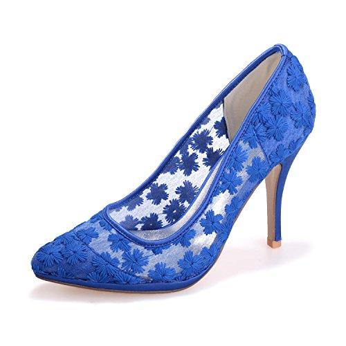 L@YC 0255-31 Femmes Hauts Talons Dentelle Printemps / ÉTé / automne / FêTe Et SoiréE Chaussures De MariéE Plus De Couleurs Disponibles blue