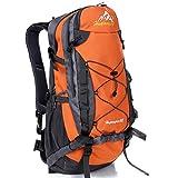 FuXing De Plein Air Sac à Dos Pour 40L, En Nylon Imperméable Matériel ,Camping Sac Utilisé Pour D'escalade Le Ski Randonnée Pédestre Randonnée à Vélo Et Trekking (Orange)