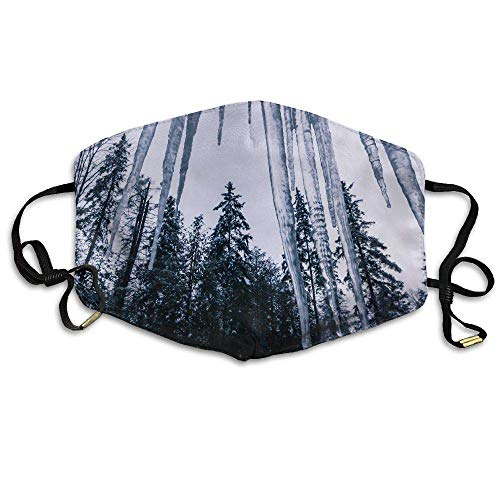 Masken,Masken für Erwachsene,Anti Pollution Mask Icicle and Tree Printed Mask Neutral Mask For Allergens,Exhaust Gas,Running,Cycling,Outdoor Activities - Outdoor Icicle