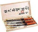 Ensemble de 3 couteaux forgés main et manche en bois