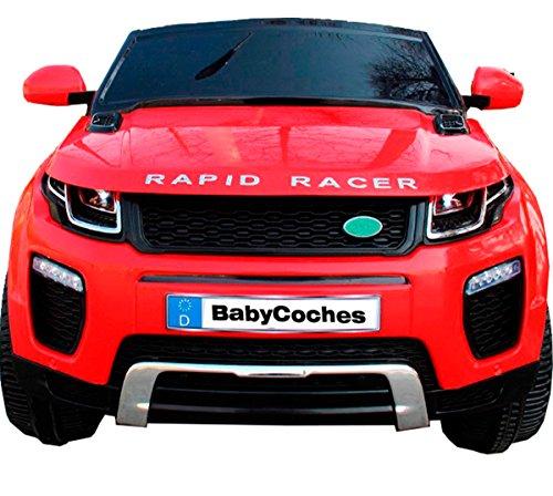 Babycoches - Coches eléctricos para niños Ranger Rapid, 12 V, Coches de batería 12v, Suspension, Coches eléctricos con Mando Parental, Apertura de Puertas, Salida ralentizada Color Rojo