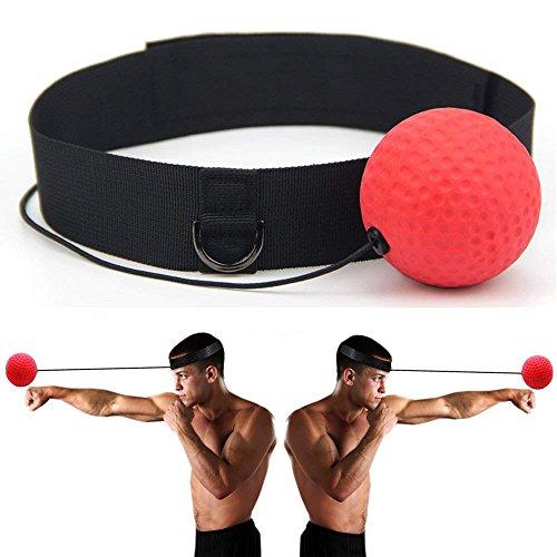 Vvhooy - Palla da boxe e combattimento portatile per migliorare reattività e velocità, allenare pugni, attrezzature da palestra, fitness, MMA e boxe con fascia e corda regolabili per bambini/adulti