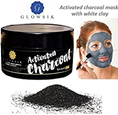 Glowsik Activated Charcoal With White Clay Face Mask - 200 Grams