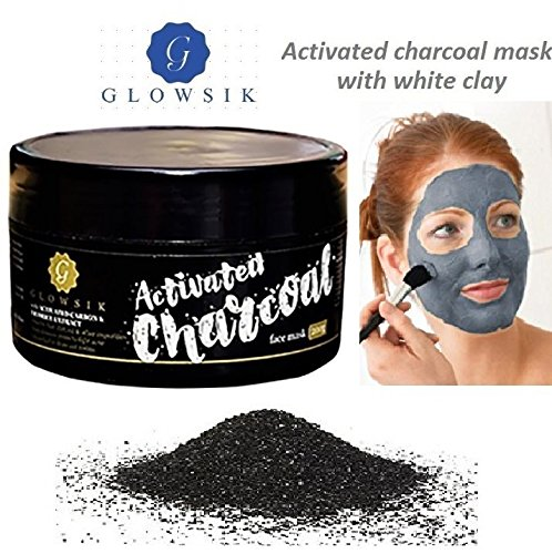 Glowsik Activated Charcoal With White Clay Face Mask – 200 Grams