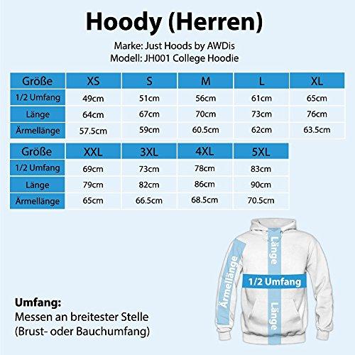 Shirt Happenz Weihnachten Einhorn 01 Premium Hoody | Geschenk | Nikolaus-Hoodie | Winter | Herren | Kapuzenpullover Graumeliert