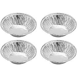 asentechuk® 250pcs/pack desechables papel de aluminio para tarta de huevo molde para galletas magdalena Pudding Cake bandeja molde para hornear
