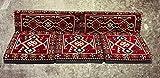 5 Teilige Set Sark Kösesi Orientalische Sitzecke, Sitzkissen Set Rot Komplett gefüllt
