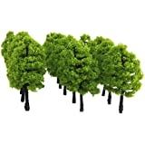 Generic Plastic Model Trees Train Railroad Scenery 1:100 20pcs Light Green