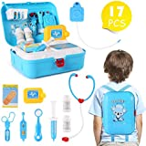 Shanaya Toys 17 Pcs Pretend Play Doctor Medical Play Set Backpack Toy For Kids - Blue