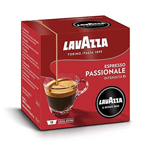 Lavazza A Modo Mio Espresso Passionale 256 Capsules de Cafe Espresso, Foncee