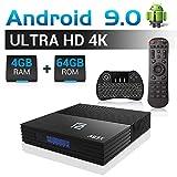 A95X Android TV Box F2 mit Tastatur【4G+64G】 Android 9.0 TV Box mit S905X2