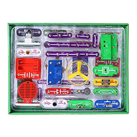VFENG 335 Smart Electric Circuit Kits, Kids Science Kit, Educational Science Kit Toy,Great DIY Circuit Experiments Set for Kids With 31 Snap parts