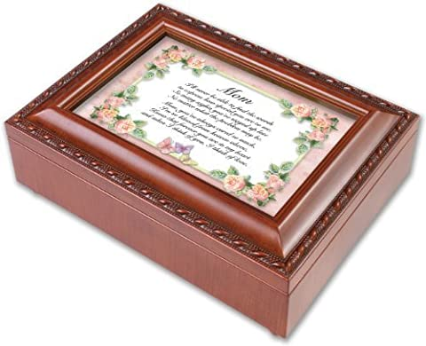 Cottage Garden Mom Mother How Special You Are Woodgrain Music Musical Jewelry Box Plays Wind Beneath My Wings by Cottage Garden (English Manual)