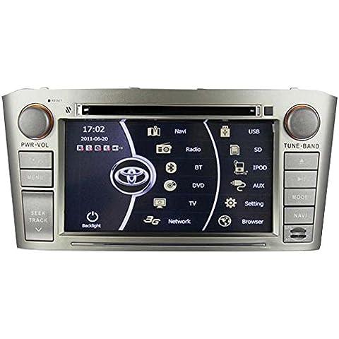 Generic 7pulgadas PC CD reproductor de DVD de coche En Dash capacitiva pantalla táctil para Toyota Avensis 200020012002200320042005200620072008con navegación GPS Radio Stereo auido Video Multimedia MP5USB CDC ATV MFD Control de Volante, Bluetooth, IPOD, RDS, agenda AUX