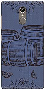 The Racoon Grip printed designer hard back mobile phone case cover for Gionee S6S. (Blue Beer)