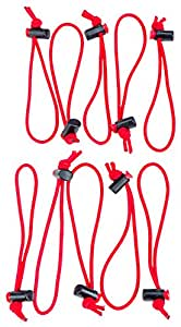 Think Tank Red Whips, Pack of 10 by Think Tank