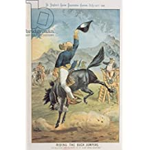 Riding the Buck Jumpers, Lord Salisbury on the Black horse, Gladstone, from St. Stephens Review Presentation Cartoon, 30July 1887(Colour litho) (136711), Aluminium-Dibond, 80 x 120 cm