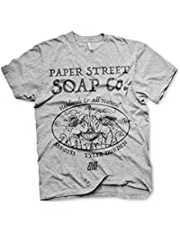4ea10d3bd2482 Fight Club Officially Licensed Paper Street Soap Company Men s T-Shirt  (Heather Grey)