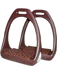 Étrier Reflex en plastique avec surface de pesée Flexible Large Marron/Marron–Compositi Étrier en plastique