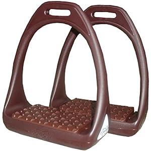 Kunststoffsteigbügel Reflex mit flexibler breiter Trittfläche braun/braun | Compositi Steigbügel aus Kunststoff