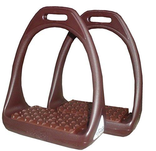 Reitsport Amesbichler Compositi Kunststoffsteigbügel Reflex mit Flexibler breiter Trittfläche braun/braun | Steigbügel aus Kunststoff