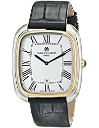 Charles-Hubert, Paris Men's 3963-T Premium Collection Analog Display Japanese Quartz Black Watch