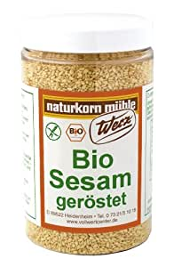 Werz Sesam geröstet glutenfrei,2er Pack (2 x 200 g Dose) - Bio