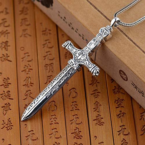 Serired 925 Silber Halskette Kreuz Anhänger 100% Pure S925 Solid Thai Silber Schwert Anhänger für Männer Schmuckherstellung