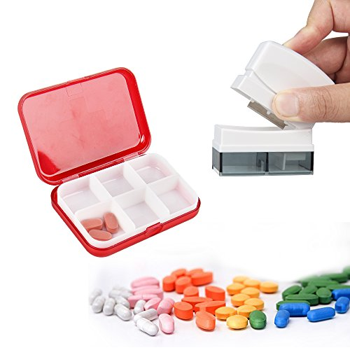 Tablettenteiler, Easy Eagle Medikamententeiler Pillenschneider mit Tablettenbox