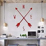 ALLDOLWEGE Persönlichkeit Sie können die Zeichnung Kompass Poster nautische Schlafzimmer Bett tv Wanddekoration Wandtattoos wand Aufkleber 58 * 81 cm, 2