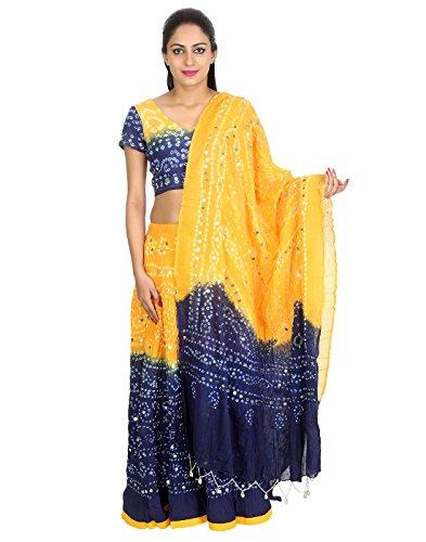 Rajrang indische Designer Pailletten Arbeit Cotton Cambric Ethnische Lehenga (Kostüme Passende 3 Für Personen)