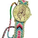 Sannysis Dreamcatcher Amistad Pulsera Relojes vestido de las mujeres del ...