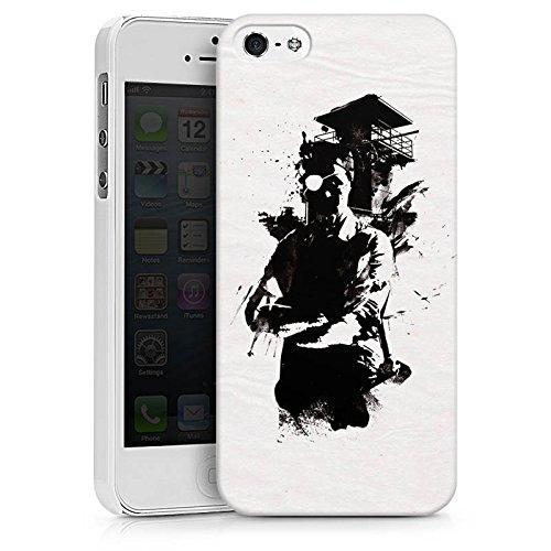 Apple iPhone X Silikon Hülle Case Schutzhülle Silhouette Wachturm Street Art Hard Case weiß