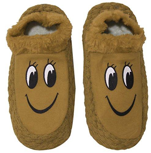 Neska Moda Premium Women's Cotton Brown 1 Pair Indoor Slippers