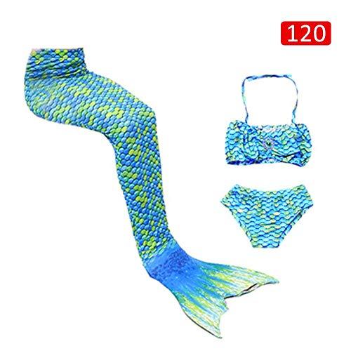 fancyU Kinder COS Meerjungfrau Schwanz Badeanzug Bademode Kostüm Geschenk für Kinder