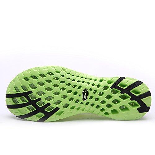 Aleader Herren Wasser-Schuhe Netzstoff Schlupfschuh Weiß