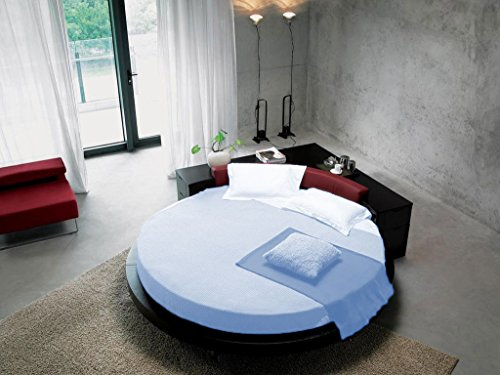 SCALABEDDING Bettlaken mit Kissenbezüge, 300TC, 100% ägyptische Baumwolle, King 243.84 cm Durchmesser, Himmelblau Blau -