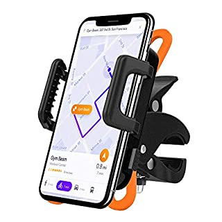 AmazeFan Bike Phone Mount, Universal Bicycle Phone Holder, Adjustable Silicone Handlebar Rack for iPhone X/8/7/6 Plus, Samsung Galaxy S9/S8 Plus, Ideal for Road Mountain Bikes and Motorcycle