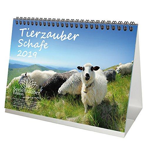 Tierzauber Schafe · DIN A5 · Premium Kalender/Tischkalender 2019 · Bauernhof · Natur · Tiere · Edition Seelenzauber