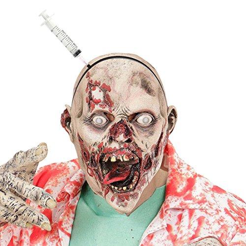 Spritze im Kopf Halloween Haarreif Zombie Kopfschmuck Horror Arzt Haarreifen Grusel Scherzartikel Psycho Halloweenkostüm (Kostüme Accessoires Arzt)