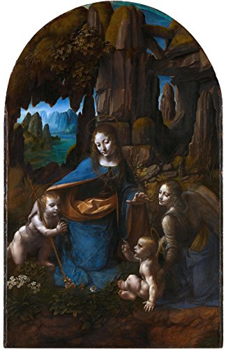 Get Custom Art Leonardo Da Vinci-Virgin of The Rocks 16x24 inch Non-Canvas Poster Print - Da Vinci Hochzeit Rock
