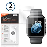 Apple Armbanduhr 42 mm Displayschutzfolie, BoxWave® [ClearTouch AntiGlare (2er Pack)] Anti-Fingerprint Matt Folie Haut für Apple Watch 42 mm