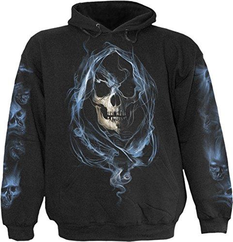 Espiral–para hombre–fantasma Reaper–Sudadera con capucha negro - negro -
