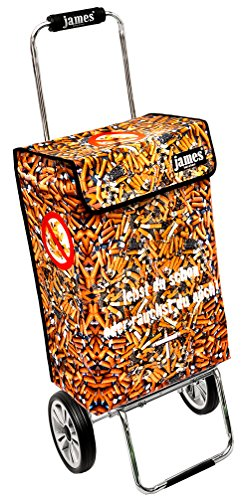James Einkaufstrolley Design ZIGI deluxe, moderner Einkaufswagen, bunter Lifestyle Shopper, Trolly, Rollkoffer, 40kg Tragkraft, klappbar, made in EU!